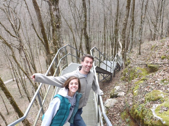 Naomi and Garrett On the Cedar Sink Trail in Mammoth Cave National Park