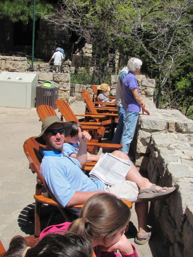 Soaking in the Views at the Grand Canyon Lodge Balcony