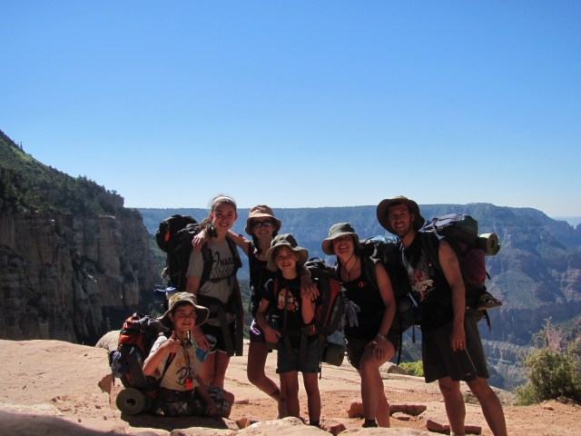 Grand Canyon Rim to Rim with kids- Coconino Overlook