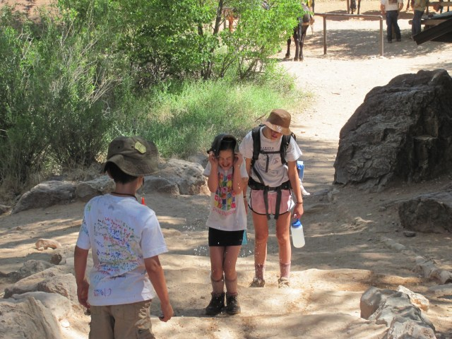 Grand Canyon Rim to Rim with kids: Cooling Off at Indian Garden