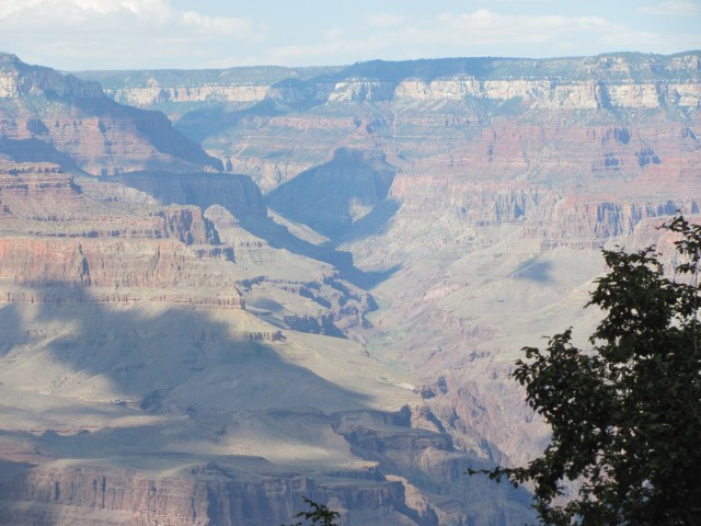 Grand Canyon Rim to Rim with kids: View From the South Rim at the End of Our Rim to Rim Hike