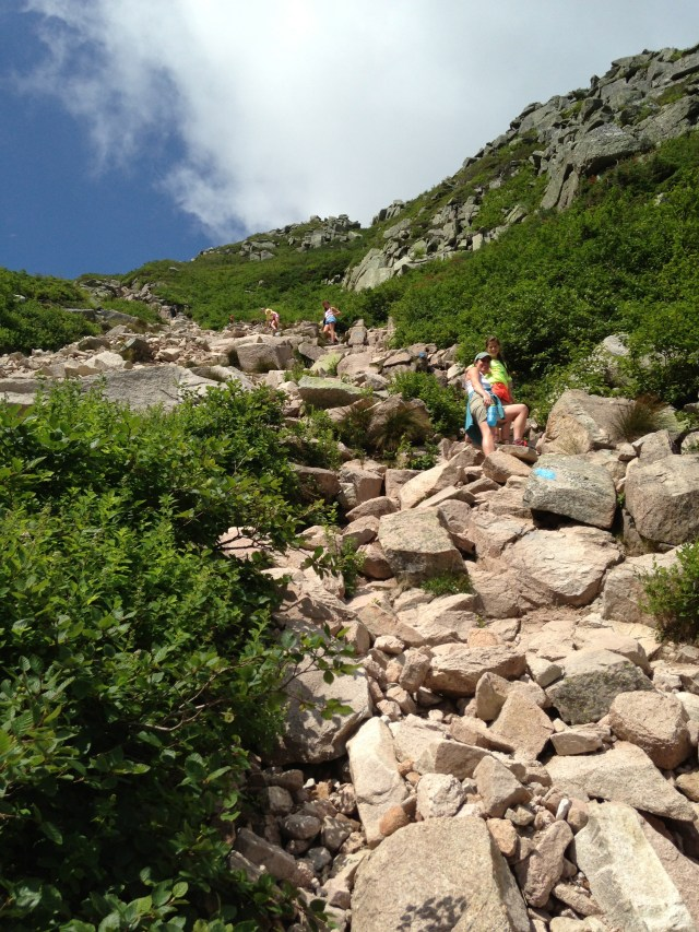 Climbing Mt. Katahdin with kids: Saddle Trail in Baxter State Park