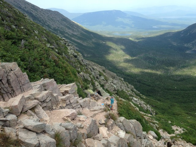 Climbing Mt Katahdin with kids: Views From Baxter Peak