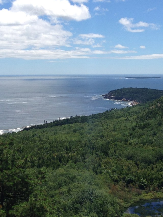 Views for the Beehive Trail in Acadia National Park