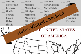 Printable States Visited Checklist