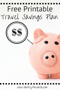 Printable Travel Savings Plan