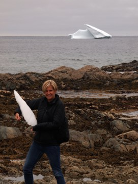 Depending on the iceberg size and temperature of the sea water, deterioriation can take between five and 90 days. This shard was on shore at Twillingate, June 4, 2016. Credit: Dan Barnes