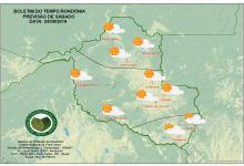 SIPAM prevê fim de semana chuvoso em Rondônia