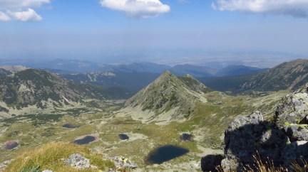 View towards the lakes of Valea Rea