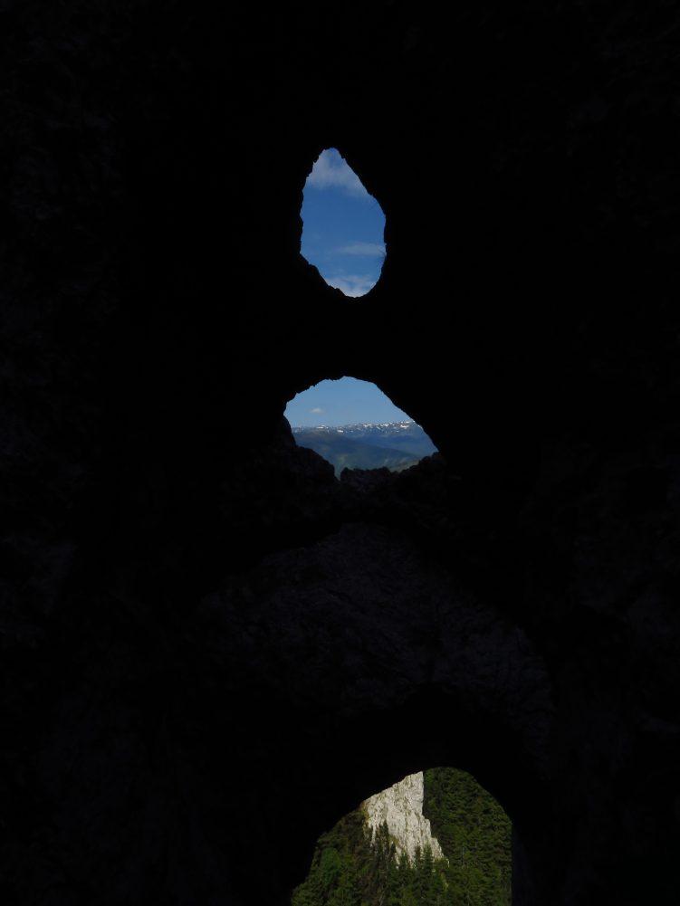 Looking through the Lantern to the Fagaras