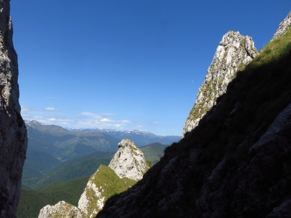 Views back to the Fagaras