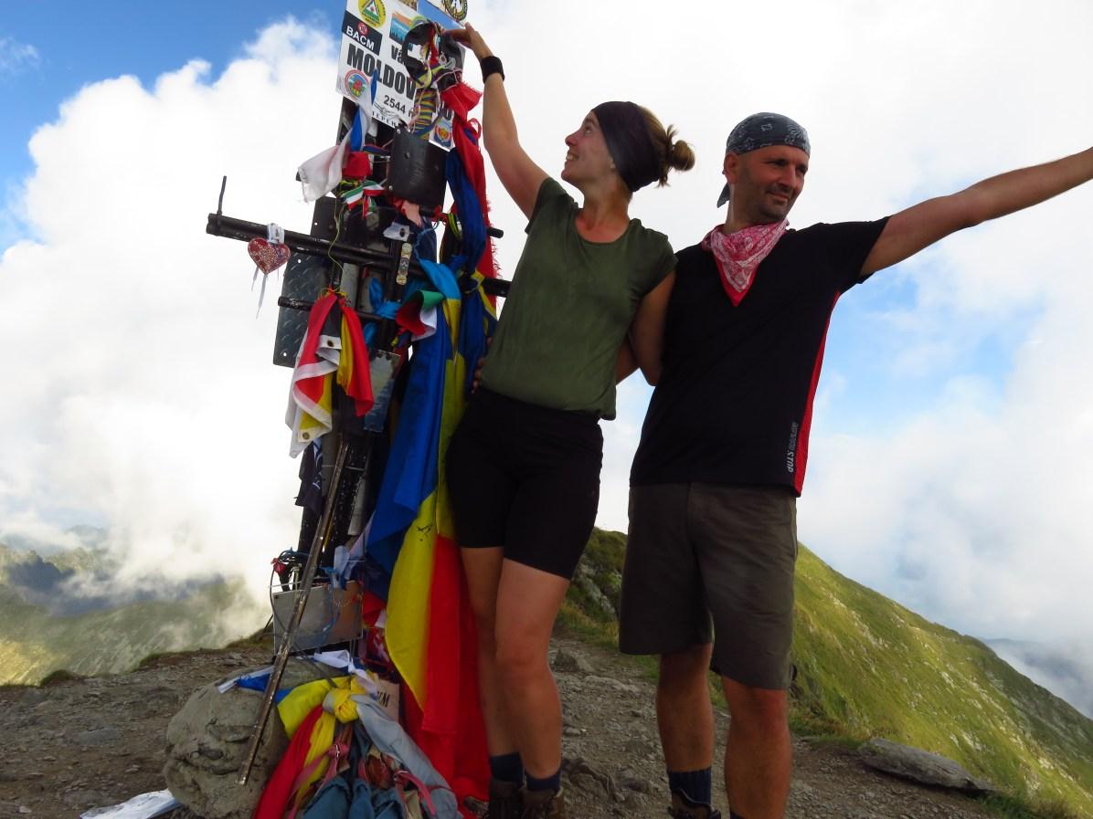 On top of the world! Moldoveanu Peak, 2544m