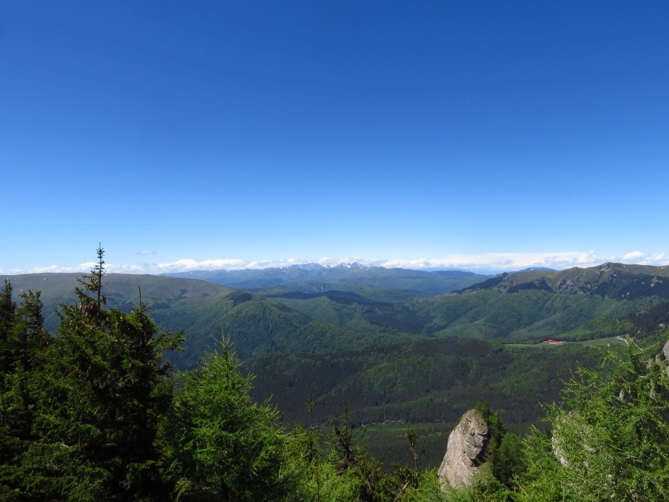 ciucas mountains romania, looking towards bucegi mountains