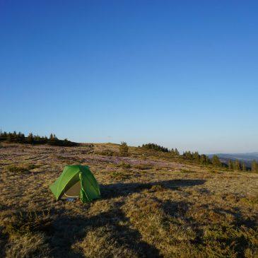 Bivouacking near Piatra Talharului, Vladeasa Mountains
