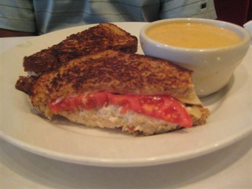 Cafe de Paris Chicken Salad Sandwich Melt