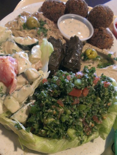 Vegetarian Platter at Aladdin's, Sandy Springs