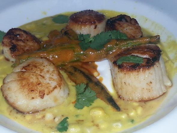 Scallops at Lure Seafood restaurant atlanta