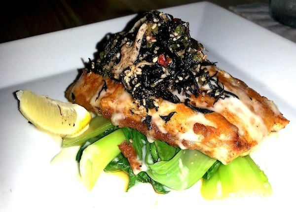 Red Snapper with Seaweed Salad