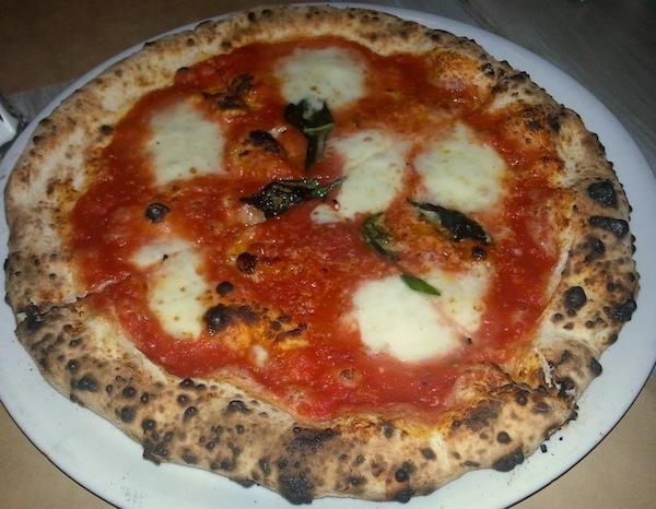 Buffalo Mozzarella and Basil Pizza