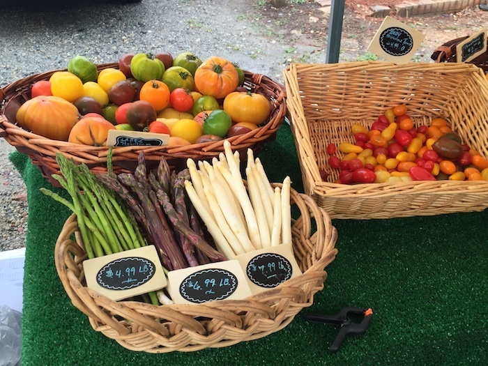 Lots of incredible heirloom goodies to be found at the Farmer's Market