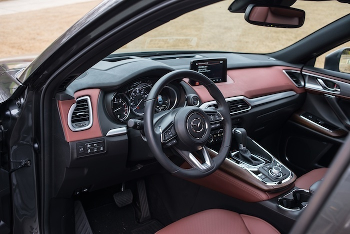 Mazda CX9 car interior