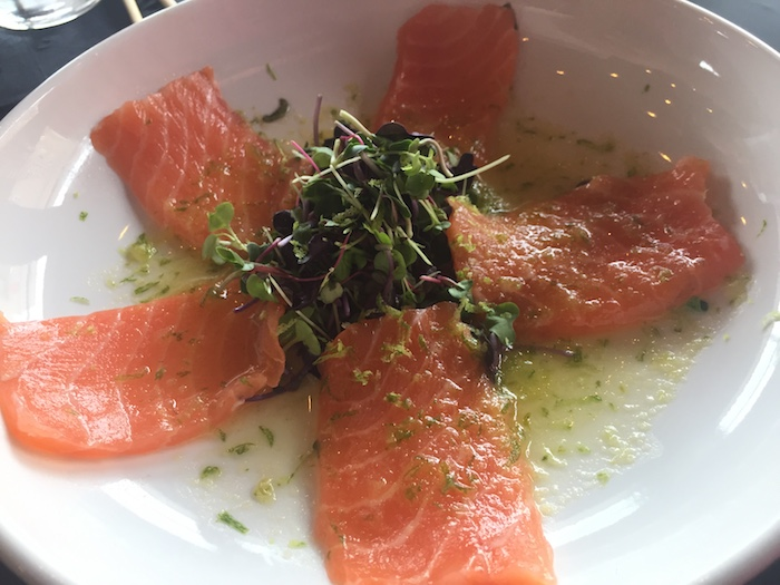 Salmon Carpaccio at CO
