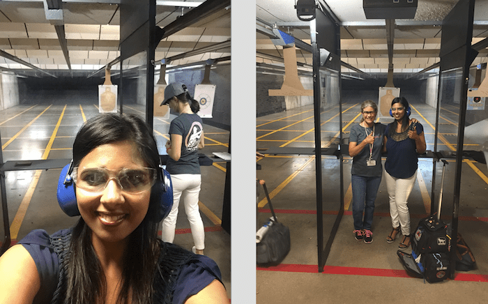 lady sharp shooters gun range