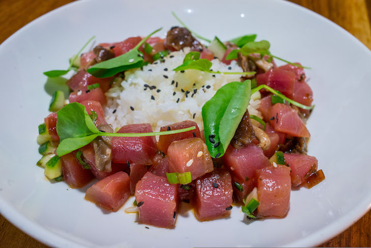 noble fin roamilicious seafood restaurant in Atlanta