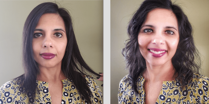 revlon before and after curl