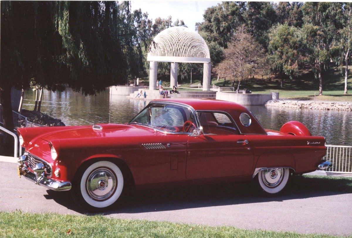 1956 Ford TBird-Ed & Nancy J.