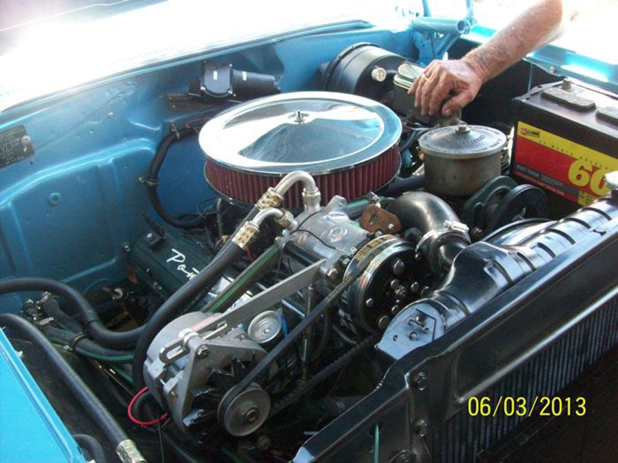 1957 Pontiac StarChief engine - DianeB