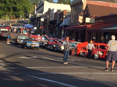 Ray directing traffic at the down town Grass Valley car show May 4, 2019