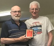 2018 service award presented to Claude H. by President Jim R.