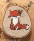 Hand drawn Fox on Birch tree Ornament