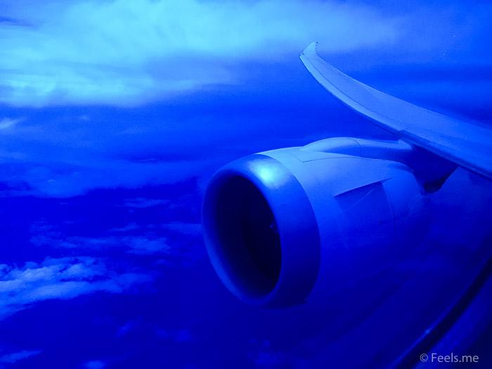 United UA2 SIN SFO: Playing with Dreamliner's window setting