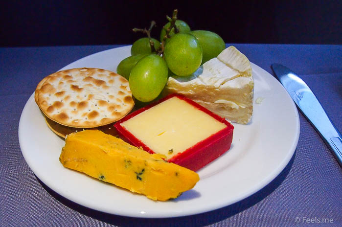 United UA2 SIN SFO: Cheese plate