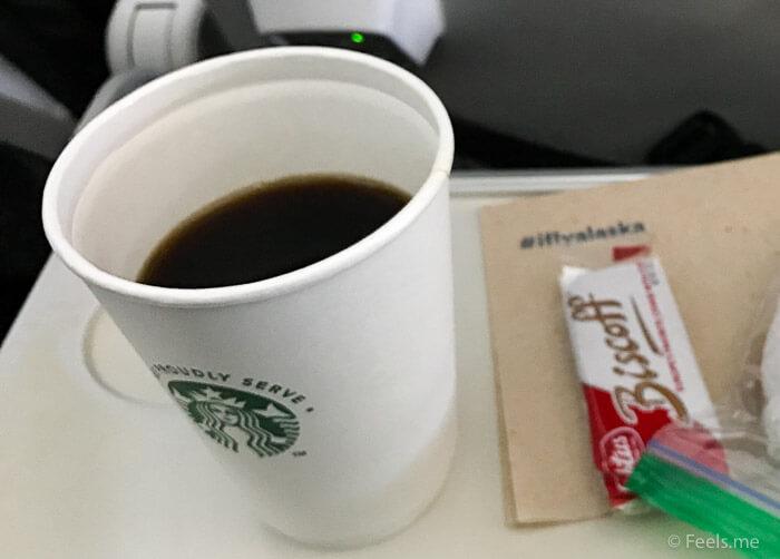 AS SEA SFO Economy Class Complimentary Starbucks Coffee