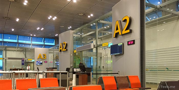 SQ SIN CAN Economy Class Waiting lounge A