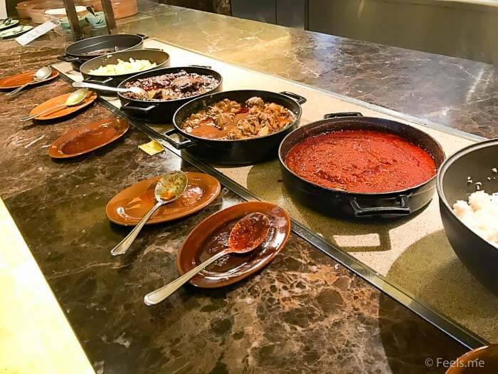 Hyatt Regency Kinabalu Breakfast Curry and Beef Rendang and Curry