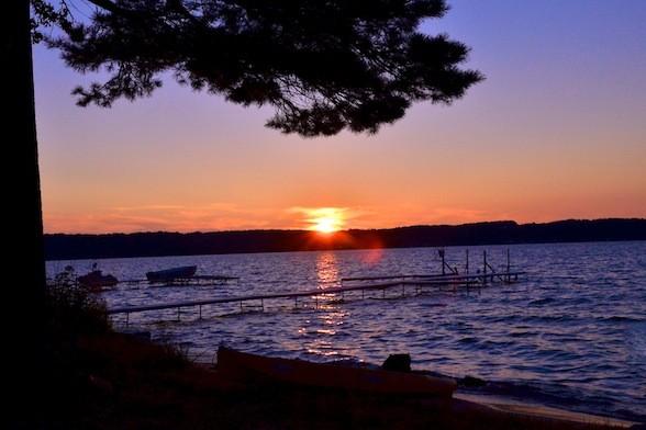 Nostalgic Sunset Memories on Michigans Torch Lake The