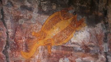 Ubirr Rock Art of a turtle