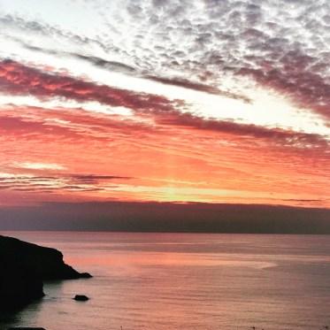 Sunset over Mawgan North
