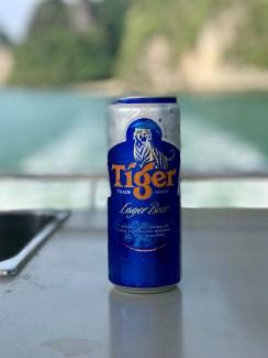 Tiger, a local brew