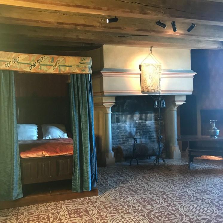 Medieval bedroom Chateau Langeais