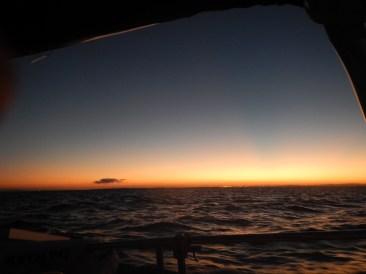 First sunset while underway.