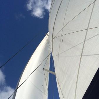 Sailing back to port