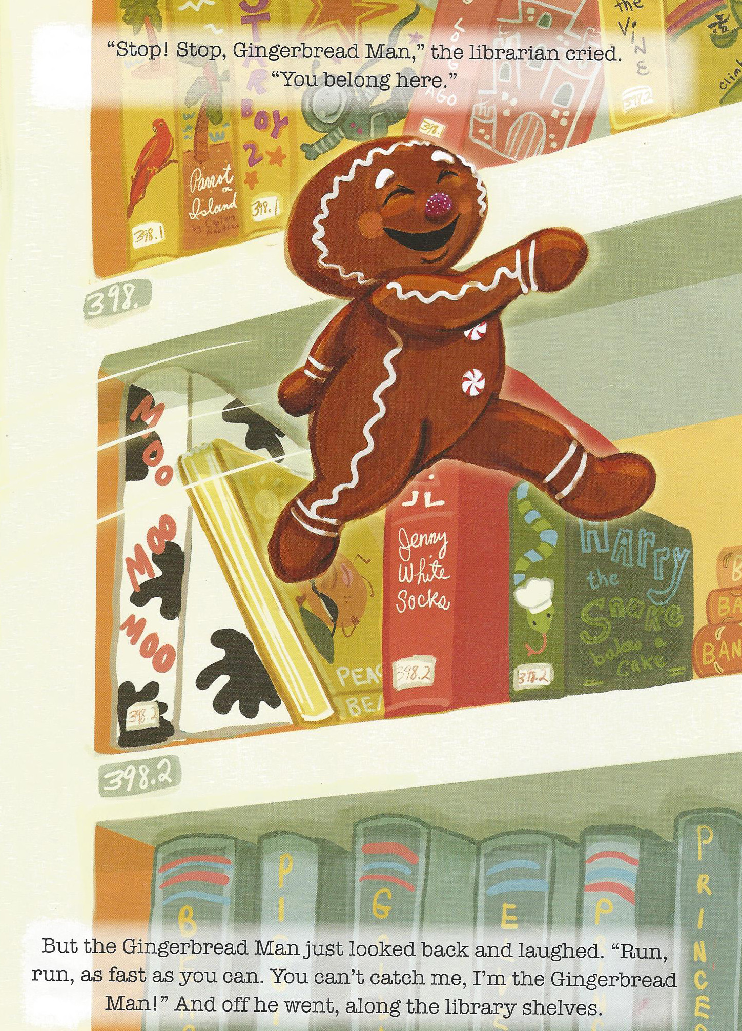 The Library Gingerbread Man Book Review