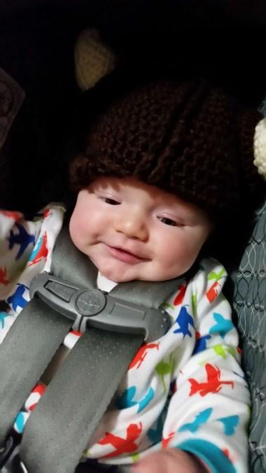 Wearing big brother's Viking hat