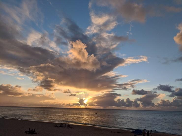 A nice sunset at Sunset Beach.
