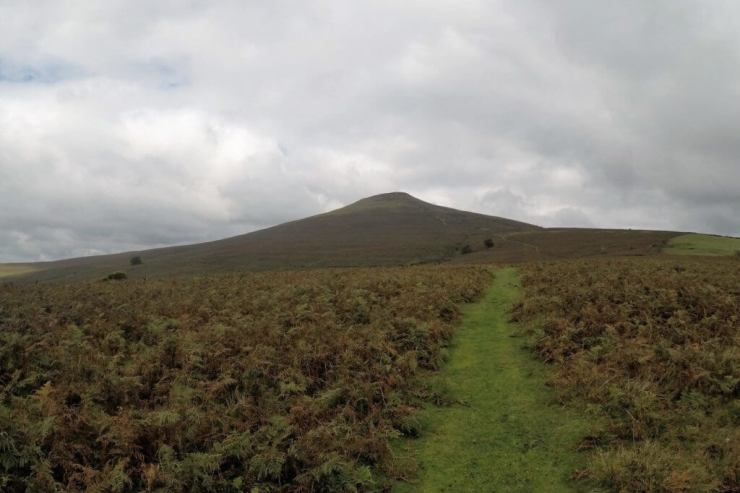 Climbing Sugarloaf Mountain in Monmouthshire